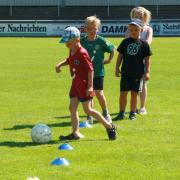 Balltraining im Jahnstadion